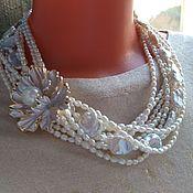 Украшения handmade. Livemaster - original item Lily necklace made of natural pearls.. Handmade.