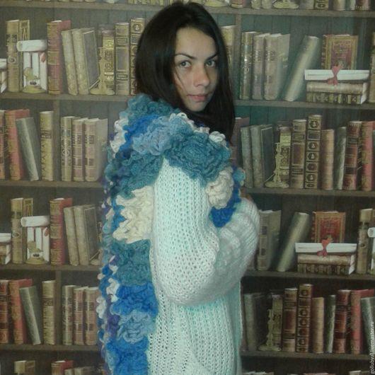 Кофты и свитера ручной работы. Ярмарка Мастеров - ручная работа. Купить Кардиган цветочный. Handmade. Белый, кофта, жилет