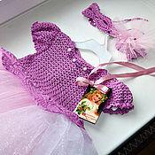 """Работы для детей, ручной работы. Ярмарка Мастеров - ручная работа Комбинированное платье """"Принцесса Зефирка"""". Handmade."""