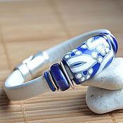 Украшения handmade. Livemaster - original item Women`s Regaliz leather bracelet