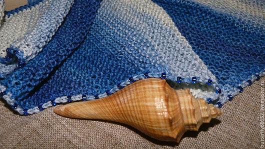 """Шали, палантины ручной работы. Ярмарка Мастеров - ручная работа. Купить Бактус, шарф  """"Морской бриз...)"""". Handmade. Шарф"""