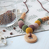 Одежда handmade. Livemaster - original item Slingobusy: with a ring of conifers in combination with mustard. Handmade.