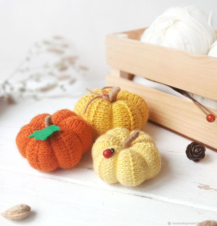 Knitted pumpkin. Interior decor, Interior elements, Chaikovsky,  Фото №1