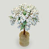 Цветы и флористика handmade. Livemaster - original item Tree of cacholong (milk opal)