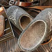 Обувь ручной работы. Ярмарка Мастеров - ручная работа Тапки валяные мужские. Handmade.