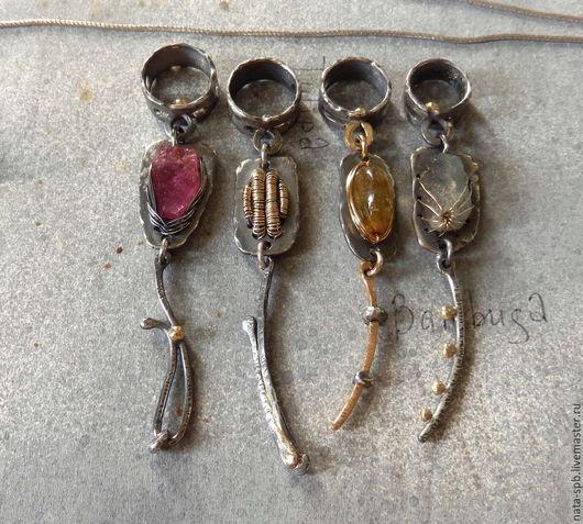 Кулоны, подвески ручной работы. Ярмарка Мастеров - ручная работа. Купить HERBS & FLOWERS набор кулонов (натур. камни, серебро, золото). Handmade.