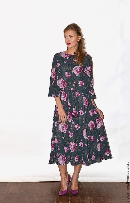 Платья ручной работы. Ярмарка Мастеров - ручная работа. Купить Платье Джулия 4182035. Handmade. Серый, платье летнее