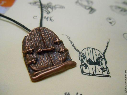 Кулоны, подвески ручной работы. Ярмарка Мастеров - ручная работа. Купить Ворота в сказку. Handmade. Рыжий, волшебный кулон