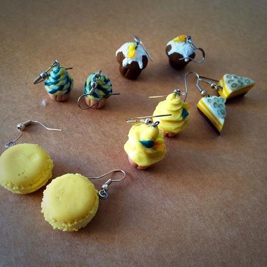 Браслеты ручной работы. Ярмарка Мастеров - ручная работа. Купить Сережки,серьги из пластики. Handmade. Серьги, сережки из пластики