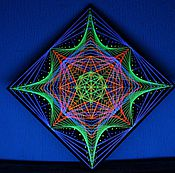 """Картины и панно ручной работы. Ярмарка Мастеров - ручная работа Картина из ниток """"Сакральная геометрия"""". Handmade."""