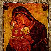 """Картины и панно ручной работы. Ярмарка Мастеров - ручная работа Икона Божией матери """"Взыграние младенца"""". Handmade."""