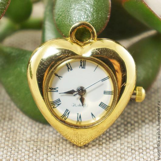 Для украшений ручной работы. Ярмарка Мастеров - ручная работа. Купить Основа для часов Золотистое сердце, римские (1шт). Handmade.