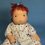 Куклы и игрушки ручной работы. Ярмарка Мастеров - ручная работа Вальдорфская шарнирная кукла-младенец. Handmade.