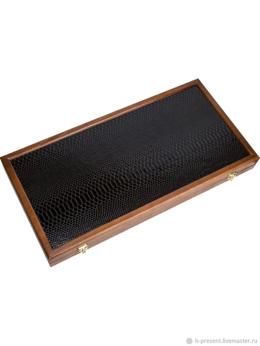 Backgammon leather Kirov 'Python' medium 50, Backgammon and checkers, St. Petersburg,  Фото №1