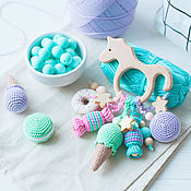 Одежда handmade. Livemaster - original item Personalized teether ring - the first toy. Handmade.