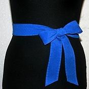 """Аксессуары ручной работы. Ярмарка Мастеров - ручная работа Пояс из замши """"Blue"""". Handmade."""