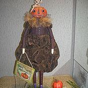 Куклы и игрушки ручной работы. Ярмарка Мастеров - ручная работа Кукла Тыквоголовка Happy Halloween ;). Handmade.