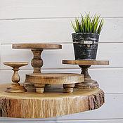 handmade. Livemaster - original item Copy of Copy of Wood Cake Stand 24 cm Cake platte. Handmade.