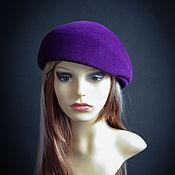 Аксессуары ручной работы. Ярмарка Мастеров - ручная работа Фетровая кепи Фиолет. Handmade.