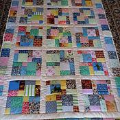 Для дома и интерьера ручной работы. Ярмарка Мастеров - ручная работа веселое настроение лоскутное одеяло. Handmade.