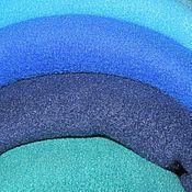 Материалы для творчества ручной работы. Ярмарка Мастеров - ручная работа Флис изумруд,т.синий,василек,голубой. Handmade.