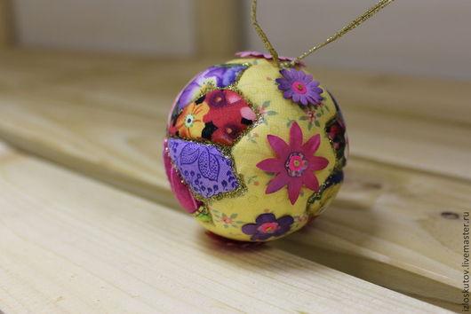 Новый год 2017 ручной работы. Ярмарка Мастеров - ручная работа. Купить № 365 « Крокус» Новогодний шар. Handmade.