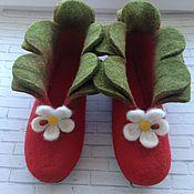 """Обувь ручной работы. Ярмарка Мастеров - ручная работа Тапочки валяные """"Ягодки"""". Handmade."""