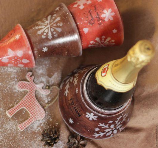 Короб для вина `Christmas tree rustic style`. Мастерская добрых вещей `Солнце за пазухой`. Юлия Shark. Деревянная елка. Елка в стиле кантри. Подарок боссу.