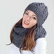 """Аксессуары ручной работы. Ярмарка Мастеров - ручная работа Комплект вязаный """"Сладкий октябрь"""", шарф снуд вязаный и шапка вязаная. Handmade."""