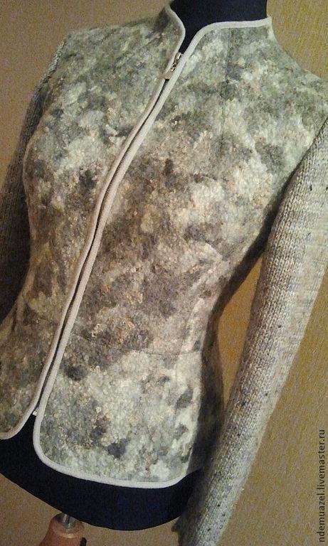 Пиджаки, жакеты ручной работы. Ярмарка Мастеров - ручная работа. Купить валяный жакет. Handmade. Серебряный, войлок