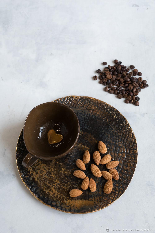 Декоративная посуда ручной работы. Ярмарка Мастеров - ручная работа. Купить Шоколадные. Handmade. Авторская керамика, шоколадная