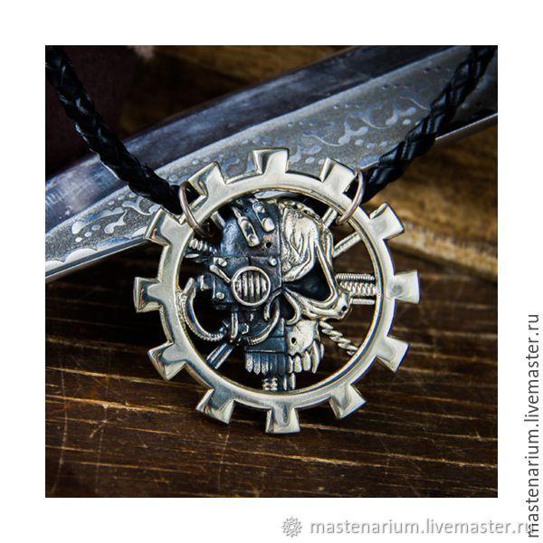 Medallion Clergy Of Mars. Warhammer 40,000 brass Nickel silver, Locket, Moscow,  Фото №1