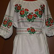 Одежда handmade. Livemaster - original item Embroidered dress ЖП3-056. Handmade.