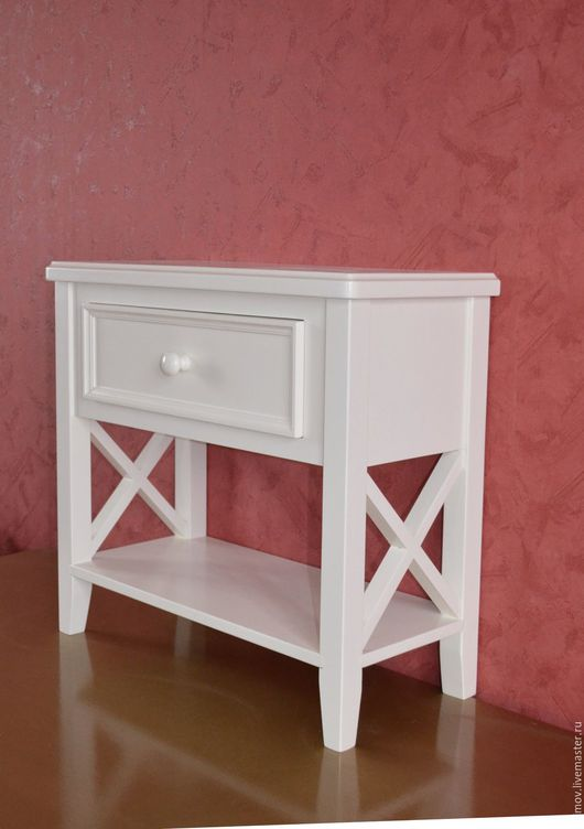 Мебель ручной работы. Ярмарка Мастеров - ручная работа. Купить Тумбочка прикроватная Алия. Handmade. Белый, мебель на заказ