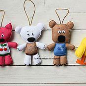 """Подарки к праздникам ручной работы. Ярмарка Мастеров - ручная работа Набор ёлочных игрушек """"Мишки мимимишки"""". Handmade."""