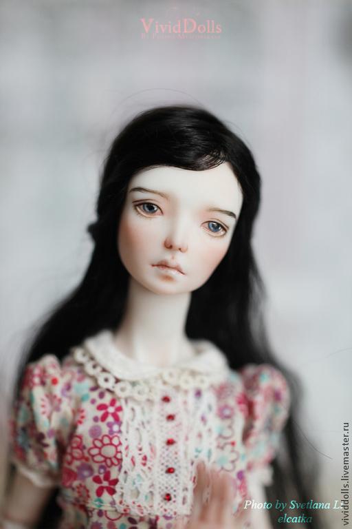 Коллекционные куклы ручной работы. Ярмарка Мастеров - ручная работа. Купить Джо. Handmade. Черный, шарниная кукла, bjd, мохер