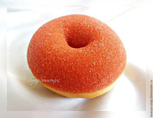 Мыло ручной работы. Ярмарка Мастеров - ручная работа. Купить Мыло Пончик сахарный, большой. Handmade. Мыло ручной работы, пончик