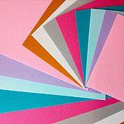 Материалы для творчества ручной работы. Ярмарка Мастеров - ручная работа Фетр жесткий Корея набор 8 цветов. Handmade.