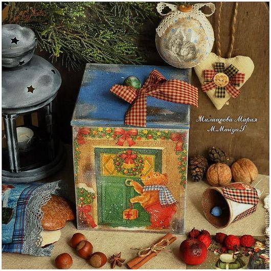 """Подарочные наборы ручной работы. Ярмарка Мастеров - ручная работа. Купить Подарочный набор """"Веселого Рождества!"""". Handmade. Шкатулка, сувенир"""