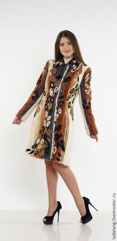Верхняя одежда ручной работы. Ярмарка Мастеров - ручная работа. Купить Пальто Багира. Handmade. Коричневый, Дизайнерское пальто