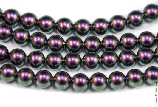 Для украшений ручной работы. Ярмарка Мастеров - ручная работа. Купить 4мм Iridescent Purple Жемчуг Сваровски 943 Swarovski Perl 30 шт. Handmade.
