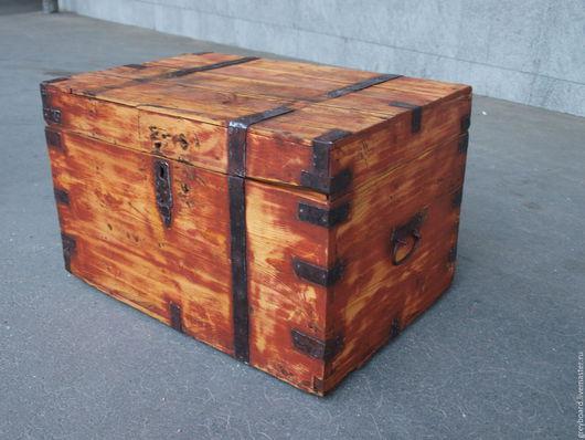 Винтажные предметы интерьера. Ярмарка Мастеров - ручная работа. Купить Старые сундуки. Handmade. Комбинированный, старое дерево