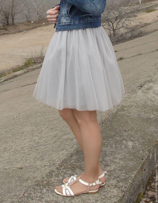 Юбки ручной работы. Ярмарка Мастеров - ручная работа. Купить фатиновая юбка. Handmade. Серый, юбка пачка купить, хлопок