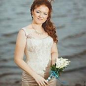 Одежда ручной работы. Ярмарка Мастеров - ручная работа Корсетное свадебное платье. Handmade.