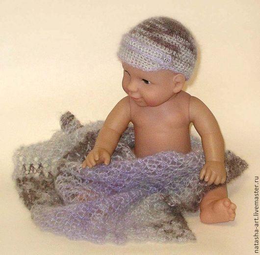 Шапки и шарфы ручной работы. Ярмарка Мастеров - ручная работа. Купить Ричард - сет для фотосессии новорожденных. Handmade. Серый, кепка