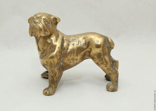 Винтажные предметы интерьера. Ярмарка Мастеров - ручная работа. Купить Собака бульдог бронза латунь Англия редкость 3. Handmade.