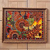 Картины и панно handmade. Livemaster - original item Interior painting in the technique of stained glass painting. Handmade.