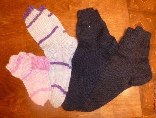 Носки, Чулки ручной работы. Ярмарка Мастеров - ручная работа. Купить Теплые классические носки. Handmade. Носки, носки спицами
