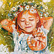 Portraits handmade. Redhead in love. Annet Loginova. Online shopping on My Livemaster. Red, gift for birthday
