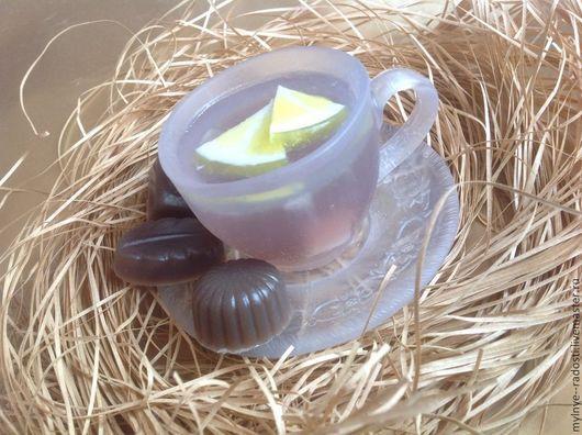 Мыло ручной работы. Ярмарка Мастеров - ручная работа. Купить Чайная церемония. Handmade. Мыло, чай с лимоном, мыло сувенирное